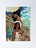 MCTEL Helen and Aphrodite Poster 11.7x16.5 Inch Frame Board