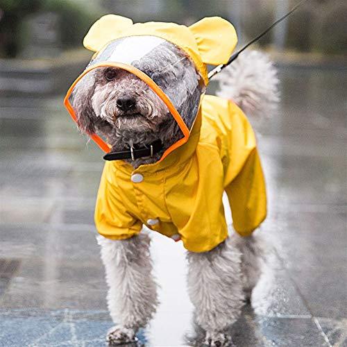 Nowy ładny pies płaszcz żakietowy mały pies ubrania dla zwierząt domowych kostium psa wodoodporna odzież kreskówka kształt płaszcz CHAOCHAO (Color : Yellow, Size : M)