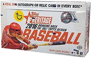 2016 Topps Heritage Baseball Hobby Box