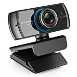 LOGITUBO HD Webcam 1080P Telecamera Live Streaming con Doppio Microfono Web Cam Funziona con Xbox One/PC/MacBook Supporto OBS/Facebook/Youtube