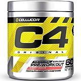 C4 Original - Suplemento en polvo para preentrenamiento - Lima y cereza | Bebida energética para antes de entrenar | 150mg de cafeína + beta alanina + monohidrato de creatina | 60 raciones