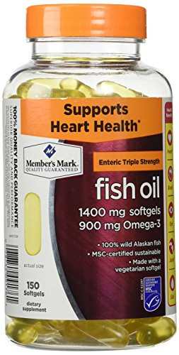 Members Mark Triple Strength Fish Oil 1400mg - 150 Ct