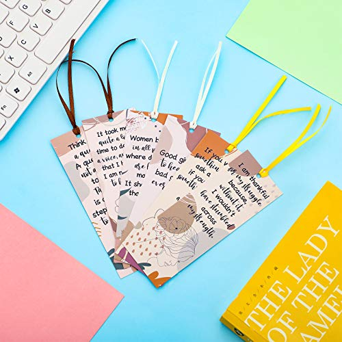 60 Pieces Inspirational Quotes Bookmarks Inspirational Bookmarks for Women Motivational Bookmarks Assorted Page Markers for Book Lovers, Mothers, Grandmothers, Teens and Graduations, 12 Styles Photo #5