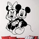 yaonuli Mouse Love Vinile Adesivo Decalcomania Decorazione della casa Soggiorno Camera da Letto Rimovibile Arte Decalcomania Decorazione Cartone Animato 75x90cm