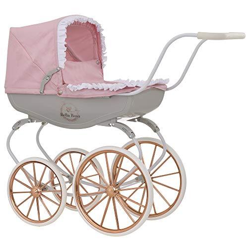 HTI Bella Rosa Carriage Pram Toy | Childrens Baby Doll Pushchair & Pram Toys Great Gift For Girls & Boys Aged 3+