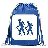Kiwistar Pictogramme randonneur - poussette Fun sac à dos sport sac de remise en forme Gymbag shopping coton avec cordon