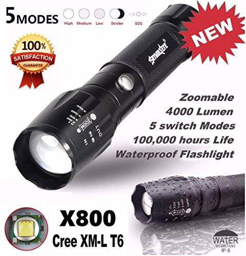 Linterna 5000LM G700 táctico LED X800 zoom super brillante lámpara de luz Militar