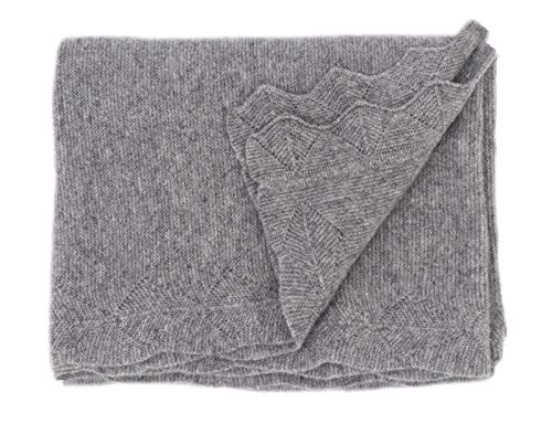State Cashmere Luxe Stroller Baby Blanket 100% Pure Cashmere Travel Wrap Lightweight and Warm • 40 x 30 inches (Heather Grey)