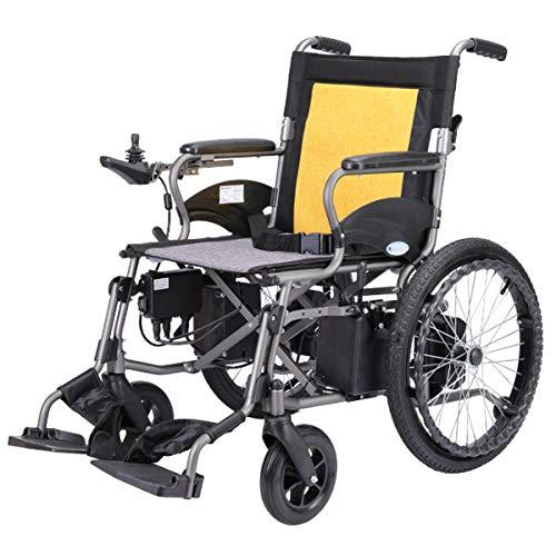 Elektrischer Rollstuhl Klappbar Motorisierter Elektrorollstuhl Klappbarer Rollstuhl Kompakte Mobilitätshilfe Rollstuhl Leistungsstarker Doppelmotor Transportrollstuhl,Hbld2c