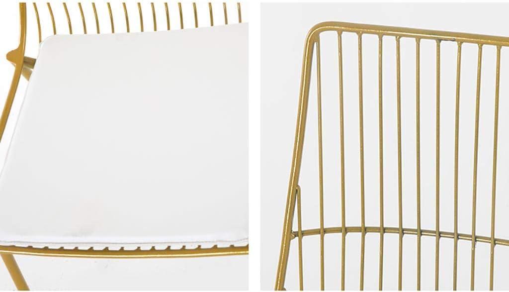 Chaise lounge chaise Dinette Iron art Restaurant de ménage Dossier (48 * 40 * 82cm) (Couleur : B) A