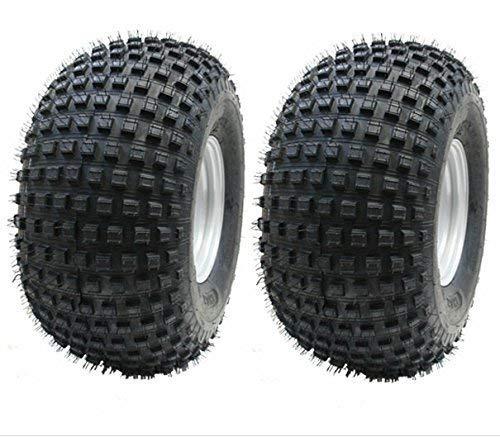 Parnells 22x11.00-8 2 - Protuberancias Neumáticos en 4 Tacos Llanta - ATV Trailer - Rueda Quad 100mm PCD