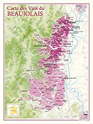 poster map of Beaujolais wines
