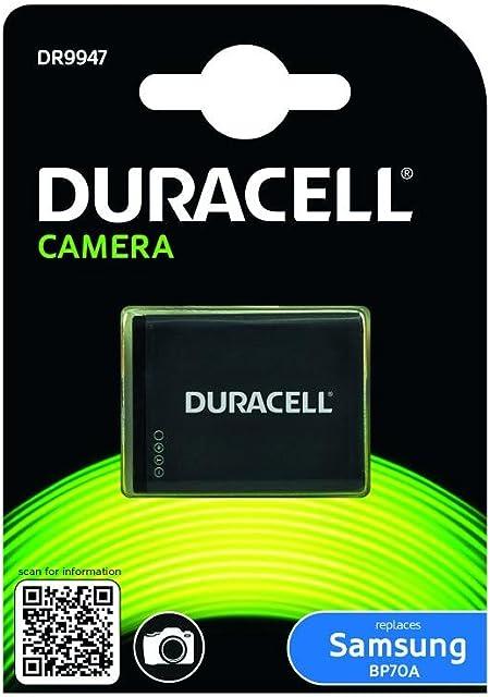 Duracell DR9947 - Batería para cámara Digital 3.7 V 670 mAh (reemplaza batería Original de Samsung BP70A)