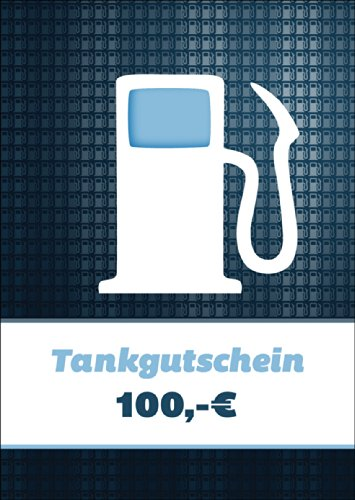 Cooler Tankgutschein (Blanko)/ Geschenkkarte mit Zapfsäule über 100 Euro zum Führerschein & Reisekosten - nicht vergessen Geld bei zu legen :) • schöne Premium Grusskarte mit Umschlag für beste Freunde und Lieblingsmenschen