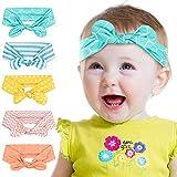 Peakally Diadema Lazo para bebé, Cintas Niñas Cabello Headwraps Lazos Bandas Cabezas Pelos Diademas Accesorio para Bebé,Recién Nacidos,Niños - Azul