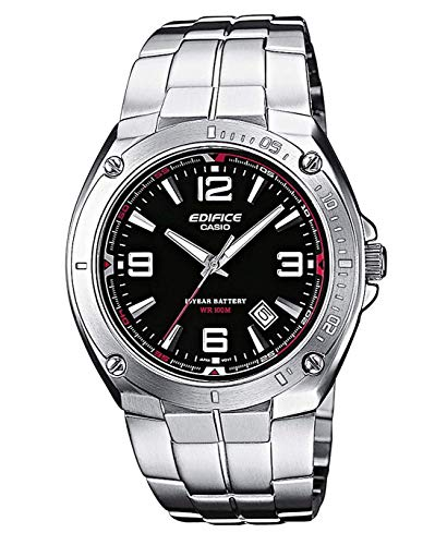 Casio Edifice Herren Massives Edelstahlgehäuse und Edelstahlarmband Uhrenarmband EF-126D-1AVEF