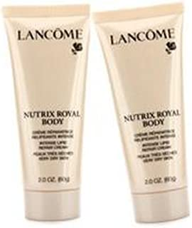 LANCOME by Lancome Nutrix Royal Body Intense Lipid Repair Cream Duo Pack - Very Dry Skin (Travel Size) (Unboxed) -2x60g/2oz for WOMEN (Package Of 2)