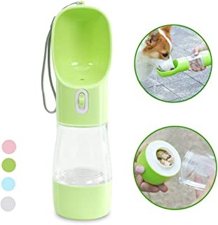 MaoCG Dog Water Bottle for Walking, Multifunctional and Portable Dog Travel Water Dispenser with Food Container,Detachable Design Combo Cup for Drinking and Eating,Suitable for Cats and Puppy,BPA free