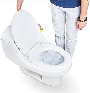 10ピース/バッグ100%防水トイレットペーパーパッド旅行キャンプ使い捨て便座カバーマットバスルームアクセサリーセット
