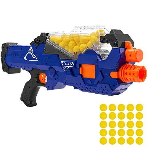 Best Choice Products Electric Motorized Soft Foam Ball Rapid Fire Blaster Toy w/Hopper Feeder, 20...