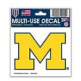 WinCraft NCAA University of Michigan 91289013 Multi-Use Decal, 3' x 4'