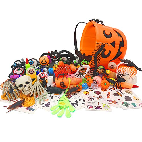 Halloween Party Favors - Perfect Assortment of Halloween Toys for Kids, Great Goodie Bag Fillers,...