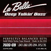 LA BELLA (ラベラ) 6弦ベース弦 760G-CB Gold White Nylon Tape 6-String