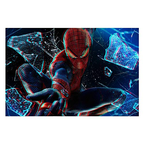 Wooden Jigsaw Puzzles Adults, Spiderman (40), Challenge and Fun, for Teens Kids, 500 pcs