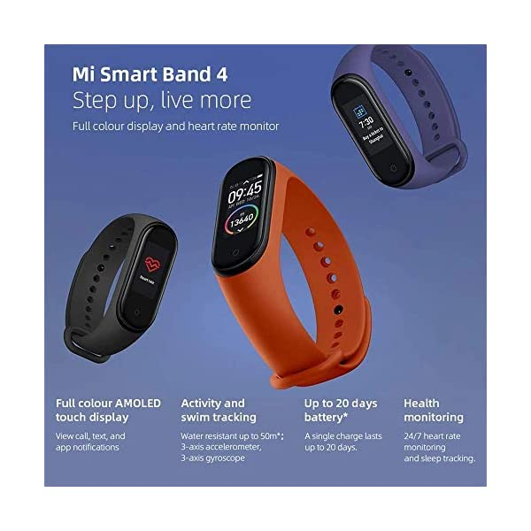 Original Xiaomi Smart Band 4, Adultos Unisex, Negro, Talla única 7