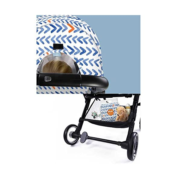 JXCC Baby Stroller, Convertible Baby Carriage, Infant Pram Stroller with Cup Holder and 5-Point Safety System -Safe And Stylish Blue JXCC 1. Can be used out of the box, no need to install, small, easy to carry, boarding, such as the size of a backpack. 2. Backboard design, with three large pieces of hard board support, moderate hardness. 3. Can sit, can move, small bed, suitable for 0-3 years old baby. 4