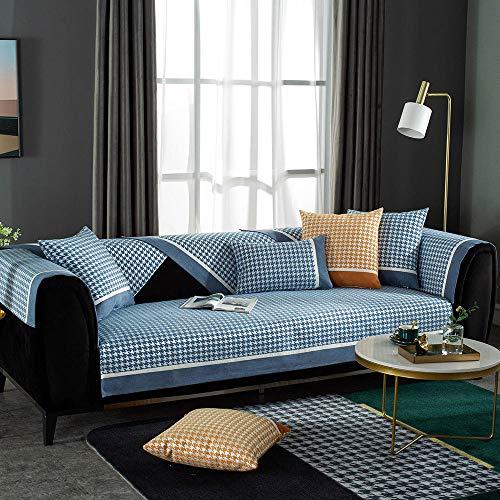 YUTJK - Copribracciolo per divano, divano, divano, poltrona, protezione europea per braccioli, antiscivolo, in tessuto, venduto in pezzi, colore: Grigio blu