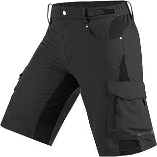 Cycorld Mens Mountain Bike Biking Shorts, Bicycle MTB Shorts, Loose Fit Cycling Baggy Lightweight Pants with Zip Pockets