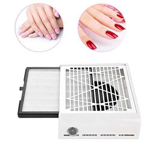 40W Table Nail Vacuum Cleaner, High Power Suction Dust Collector Machine Nails Fan Professional Manicure Pedicure Art Equipment