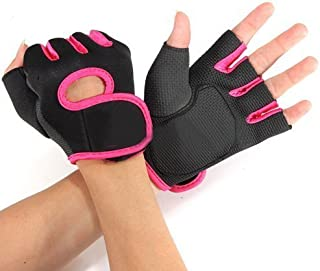 flowermall caliente gimnasio Levantamiento de pesas Ejercicio mitad dedo deporte ciclismo guantes de fitness