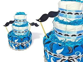 Lil Man Mustache Diaper Cake
