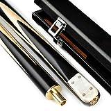 YRU 145CM Taco de Billar, Handcraft 3/4 Articulado Snooker Cue Stick/Ash+Ebony/Negro 8 Ocho Bola 10mm Negro Ocho 16 Colores Billar(Color:#3)