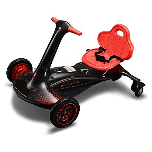 ROLLPLAY E-Rennfahrzeug mit Drift-Funktion, Turnado Drift Racer, Für Kinder ab 8 Jahren, Bis max. 60 kg, 24-Volt-Akku, Bis zu 14 km/h, Schwarz