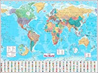 Collins World Wall Paper Map