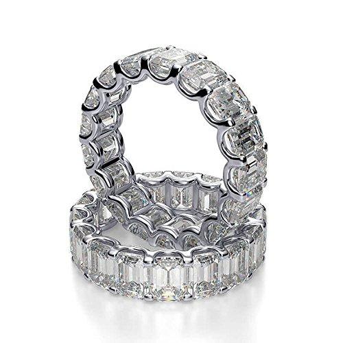 platinum and diamond wedding band - 1