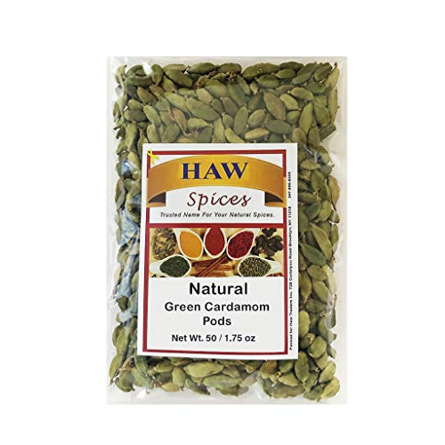 Haw Green Cardamom Pods 50 Grams| Natural Whole Cardamom Pods 1.75 Ounces| Natural Spice Cardamom for Biryani, Tea, Coffee and Natural Aroma