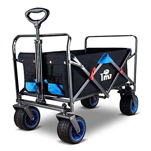 TMZ Carretilla plegable todoterreno para coche, ruedas plegables con asa, técnica de...