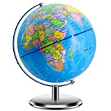 World Globes for Kids - Larger Size 12' Educational World Globe with Stand Adults Desktop Geographic Globes Discovery World Globe Educational Toy for Children - Geography Learning Toy (12inch)