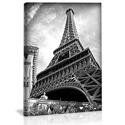 Black and White Eiffel Tower Wall Art Decor Canvas Painting Kitchen Prints Pictures for Home Living Dining Room