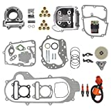 69mm Valve Big Bore Kit 100cc for GY6 49CC 50CC 139QMB Moped Scooter Engine 50mm Bore Upgrade Set with Racing CDI Ignition Coil Performance Spark Plug