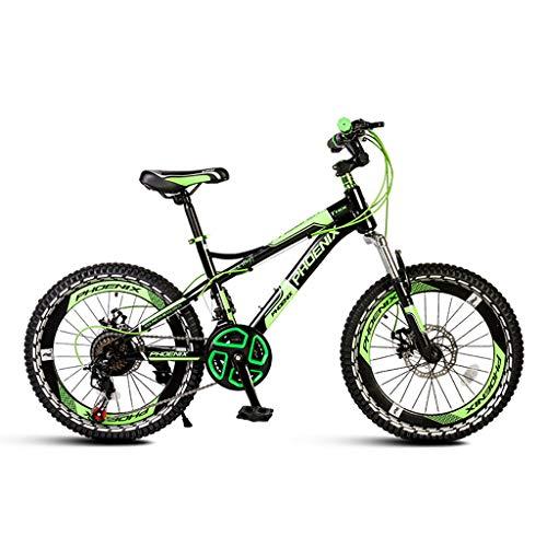 FXD Mountain Bike per Bambini Mountain Bike da 6-14 Anni con Cambio Bici Telaio in Acciaio Ad Alto Tenore di Carbonio 22 Pollici 21 velocità Adatto per Altezza 130-165 Cm