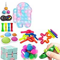感覚のフィジットのおもちゃセット、20個のストレスの軽減と抗不安ツール束のための子供と大人、フィジットパック、成人と子供たちのための感覚的な指の玩具