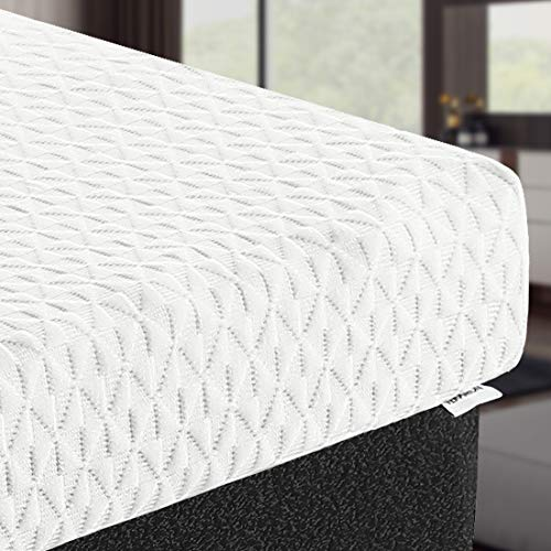 TEKAMON 3 Inch Memory Foam Mattress Topper Queen Size,High Density Gel-Infused Cooling Foam Mattress Topper,with Removable & Washable Bamboo Fiber Cover