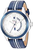 ESQ Men's Stainless Steel Watch w/ Blue Bezel and Leather Strap FE/0091