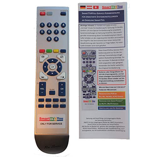 SmartTV4You Service-Fernbedienung kompatibel mit Samsung K/KU-Serien zur Freischaltung von PVR und TimeShift bei K5579 K5589 K6379 K5570 K5580 KU6079 KU6099 KU6179 KU6409 KU6509