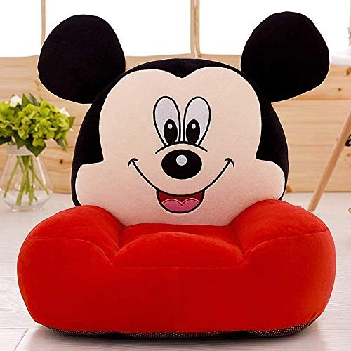 Cartoon Kid's Sofa,Children's Armchair Children's Stool Cartoons Cd Small Sofa Mickey Mouse Plush Toys Toddler Seat Comfortable Soft Foldable Sofa Baby Stool Baby Seat Cdren's Birthday Gifts New Year'
